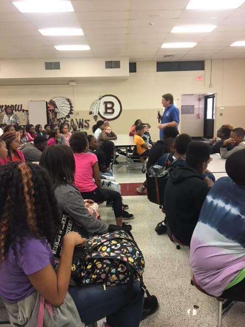 Mr Turner Speaking At Blytheville Middle School 2018 Mississippi County Ar