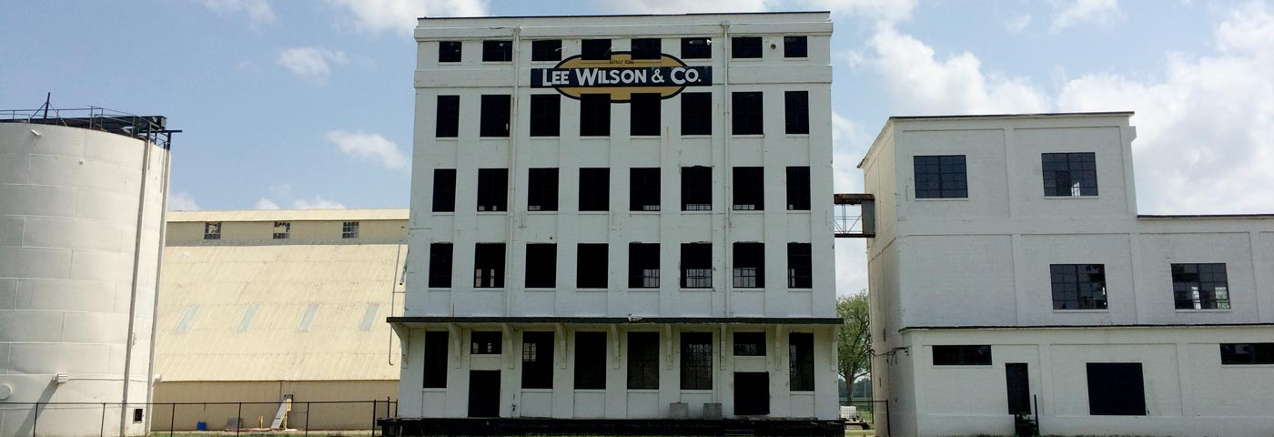 The old cotton warehouse in the historic town of Wilson